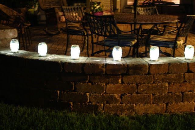 Mason jar patio lights diy pinterest patio lighting jar and mason jar patio lights diy pinterest patio lighting jar and mason jar crafts workwithnaturefo