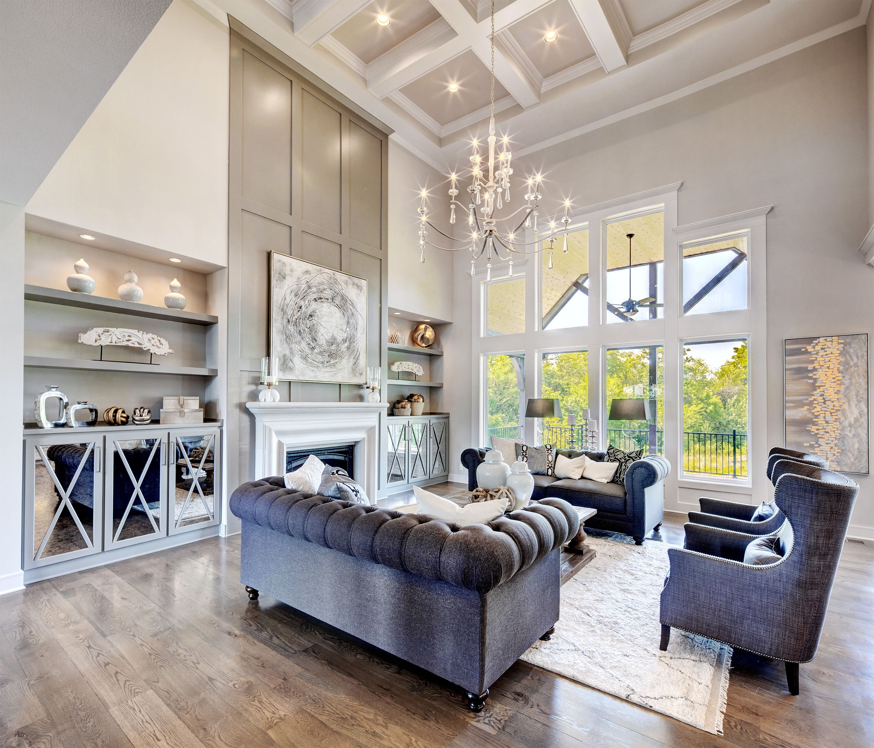 Great Room Tall Ceiling Living Room High Ceiling Living Room Living Room With Fireplace