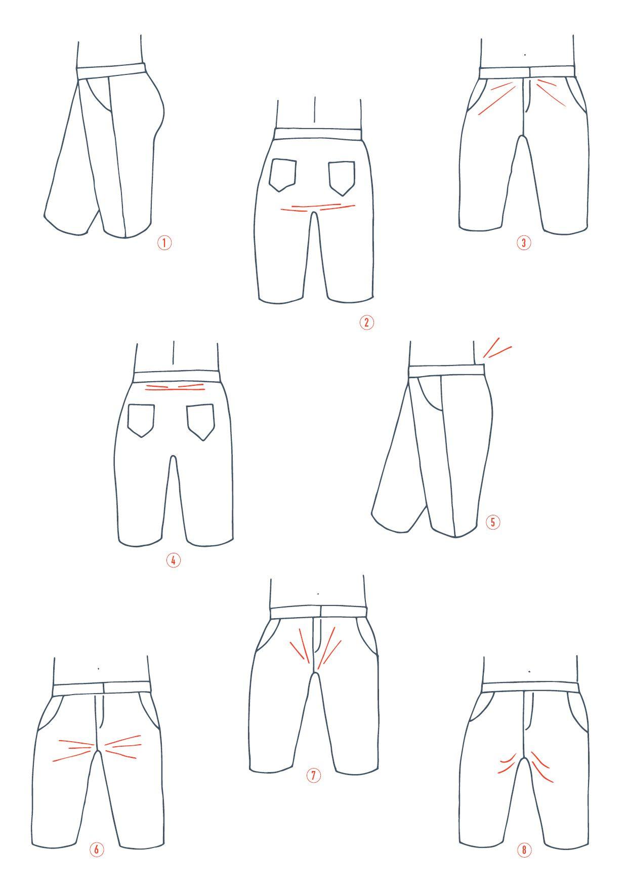 Modifier la fourche d\'un pantalon   Nähen