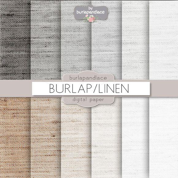 Burlap linen grey beige digitalpaper by burlapandlace on Creative Market