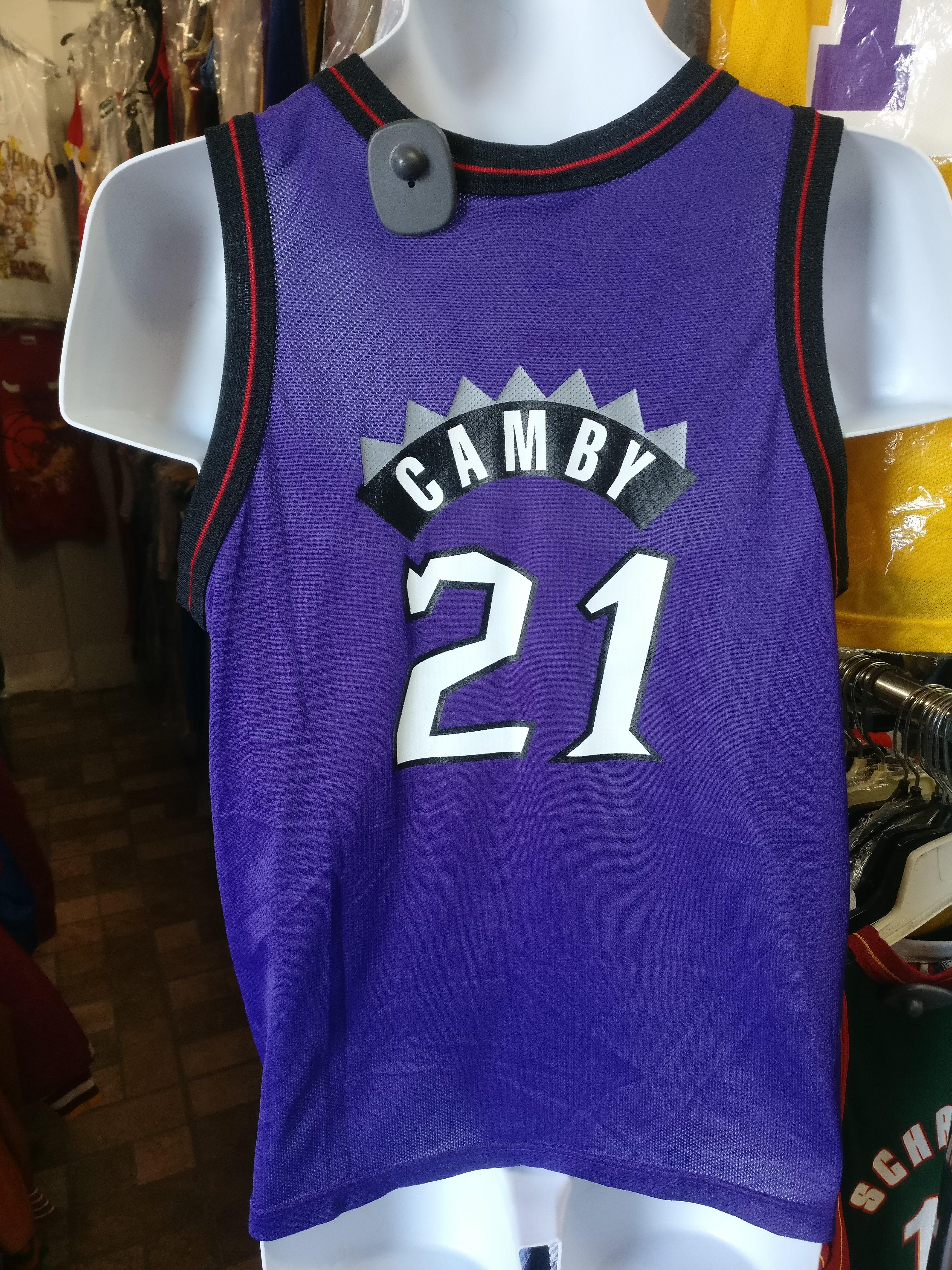 7c6e43999 Vtg  21 MARCUS CAMBY Toronto Raptors NBA Champion Jersey 14-16 (Dino ...