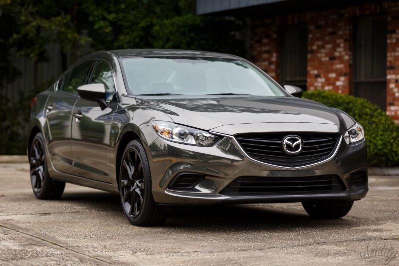Mazda 6 Black Chrome Wrapping Mazda Cars Mazda 6 Sedan Chrome Cars