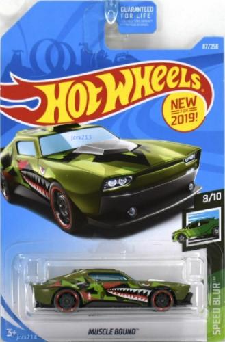 Hot Wheels 2019 Speed Blur Muscle Bound 8 10 Dark Green Hot Wheels Custom Hot Wheels Hot Wheels Cars