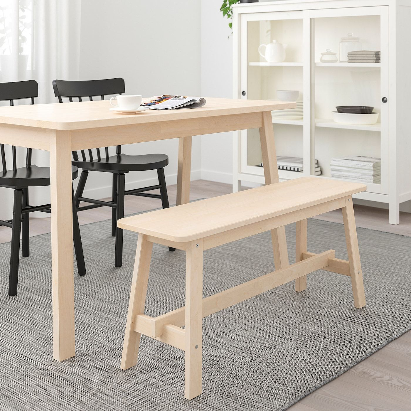 Norraker Bench Birch 40 1 2 In 2020 Ikea Furniture Bench