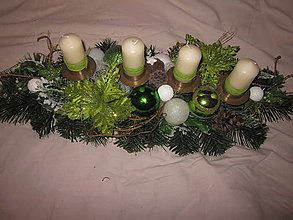 cbc63a84b Svietidlá a sviečky - vianočný,adventný svietnik dlhý-57cm - 6197812_