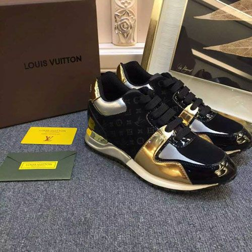 LATEST LOUIS VUITTON WOMEN SHOES RUN AWAY SNEAKER BLACK