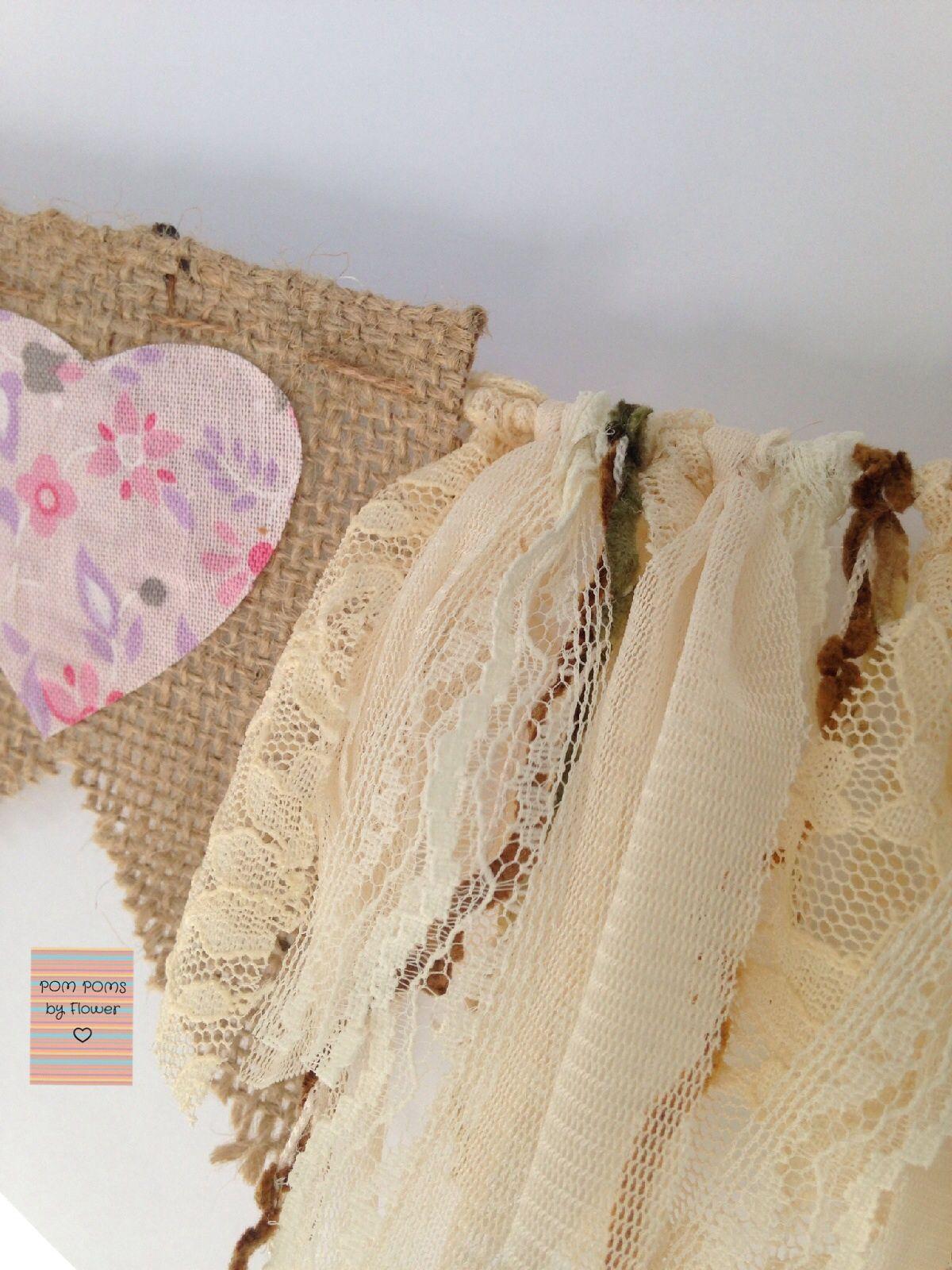 Guirnalda de tela y banderines fiesta15 pinterest - Guirnaldas de tela ...