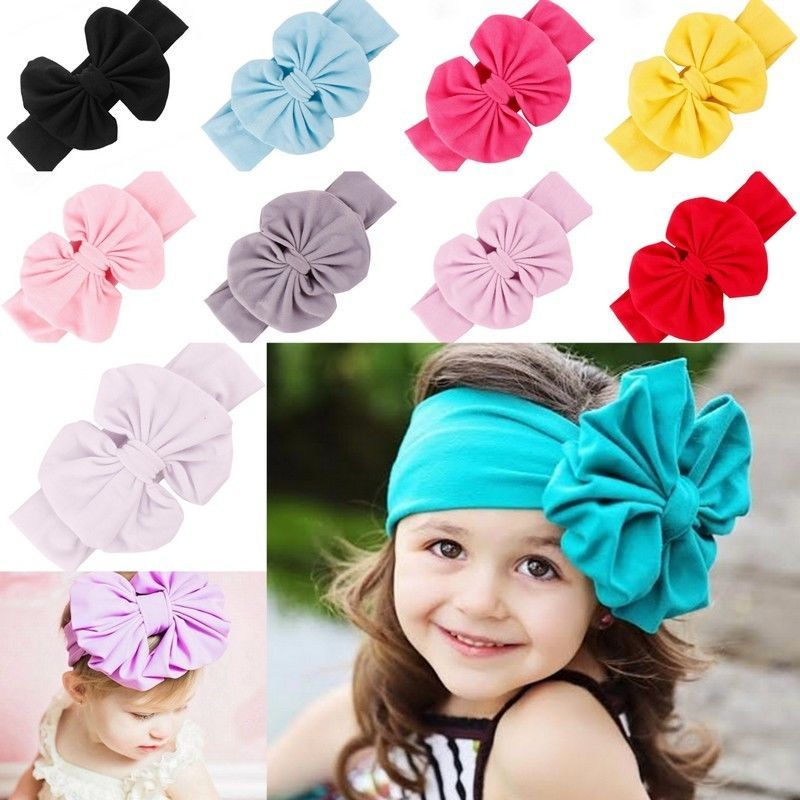 Baby Girl Toddler Big Bow Bowknot Hair Band Headband Headwear Turban Headdress #Doesnotapply