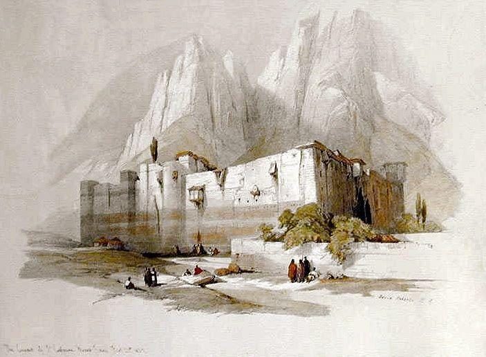 Convent of St  Catherine, Mount Sinai, 1842  | David Roberts