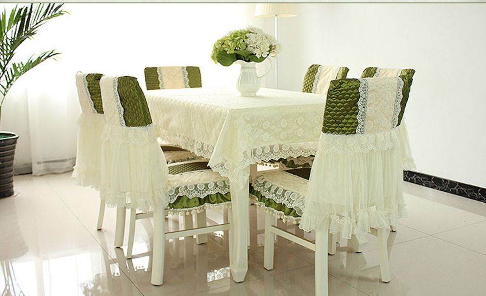 Dining Room Table Protector Pads Simple 130X180Cm Tablecloth 6 Sets Chair Backing Pads Dining Table Coffee Design Inspiration