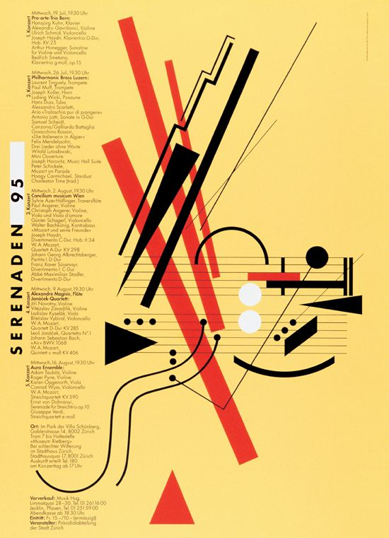Early Swiss Postmodern Design History Of Graphic Design Classical Music Poster Graphic Design Graphic Design Inspiration