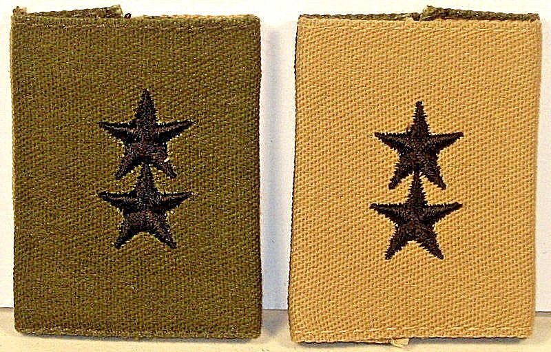 Us Army Major General Maj Gen Subdued Khaki Gore Tex Rank Insignia
