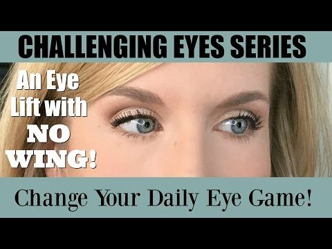 How to Lift Hooded or Downturned Eyes with NO WING! Easy