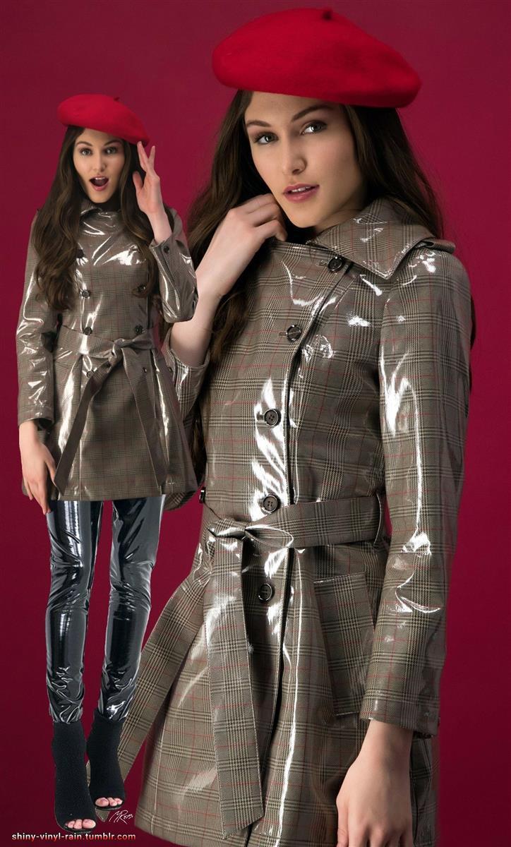 Vinyl Rain Regenkleidung Lack Kleidung Ausgefallene Mode