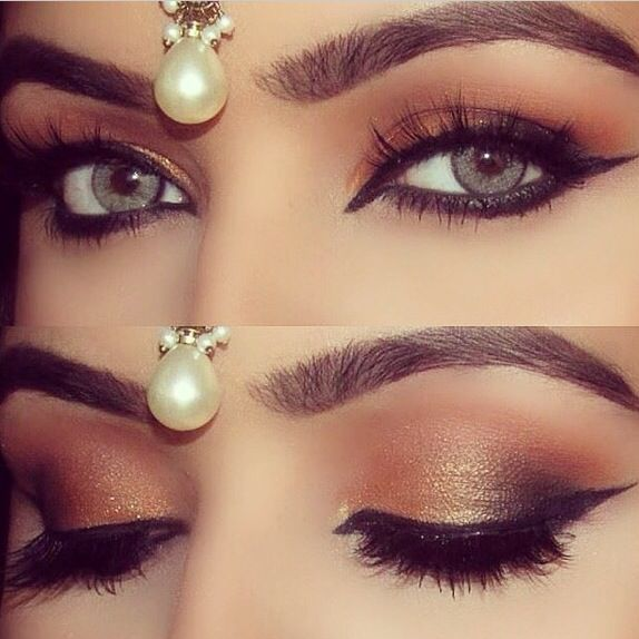 Gorgeous Sparkly Bronze Eye Makeup Make Up Pinterest Bronze