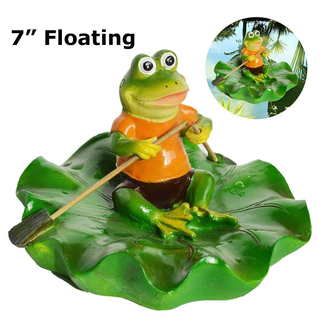 Resin Floating Frogs Statue Cute Frog Sculpture Outdoor Garden Pond Decorations