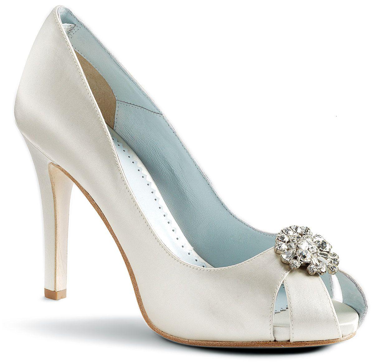 34 best Ivory Bridal Shoes images on Pinterest | Bridal shoes, Bride ...