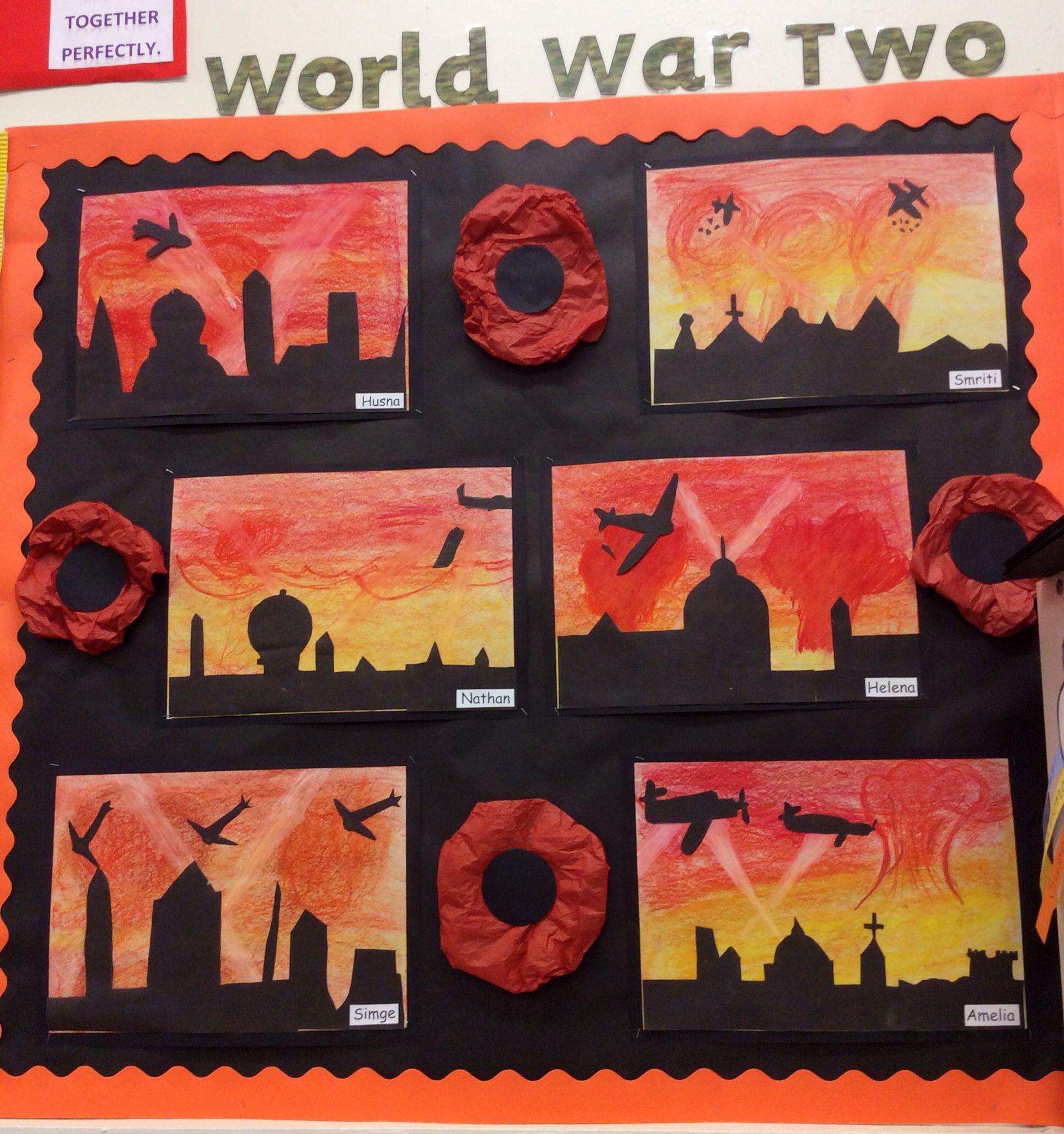 World War Two Blitz Art Work The Children Used Oil