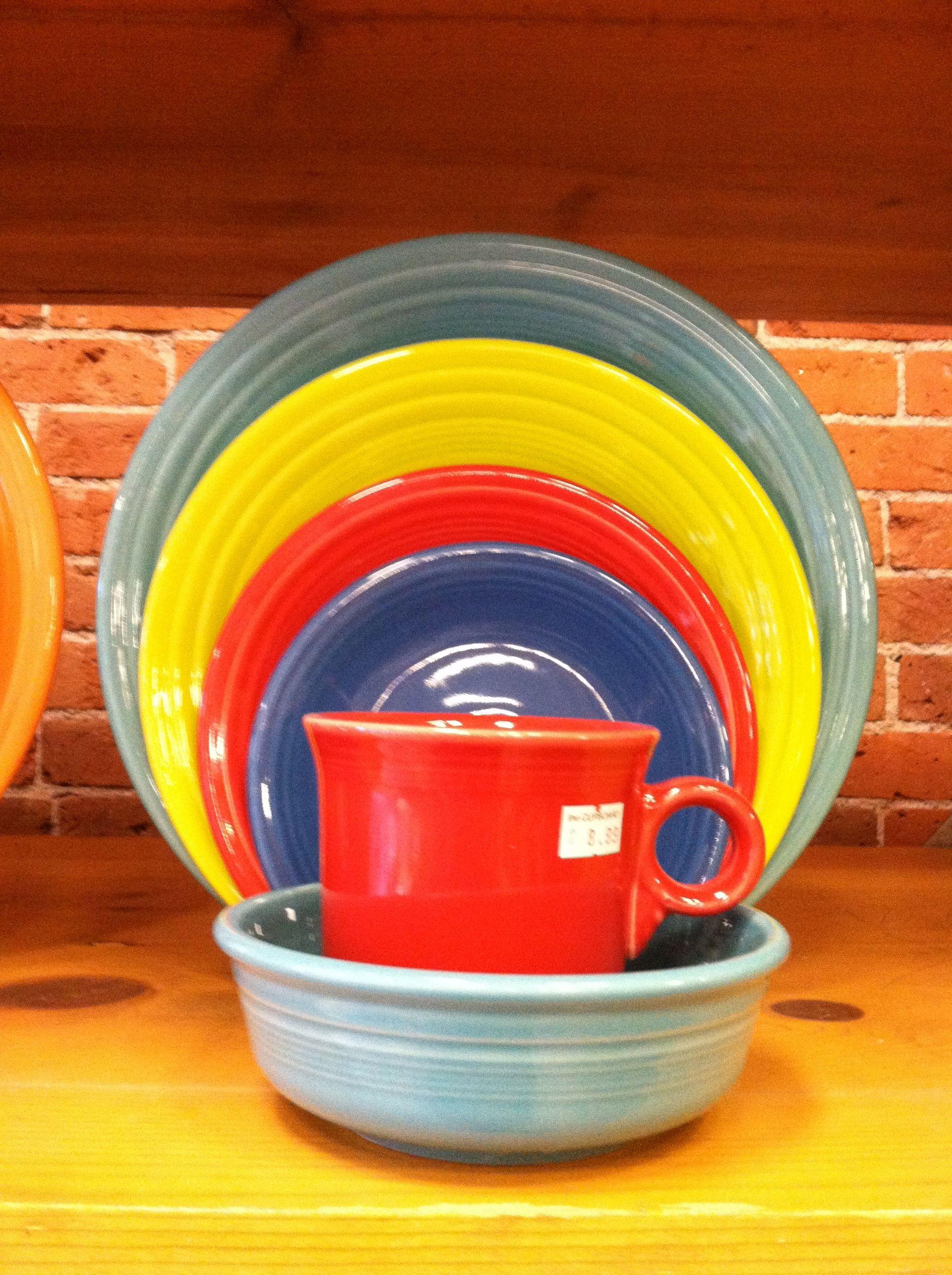 Fiestaware Turquoise, Lemongrass, Scarlet, Lapis Its A Fiestaware Fiesta #