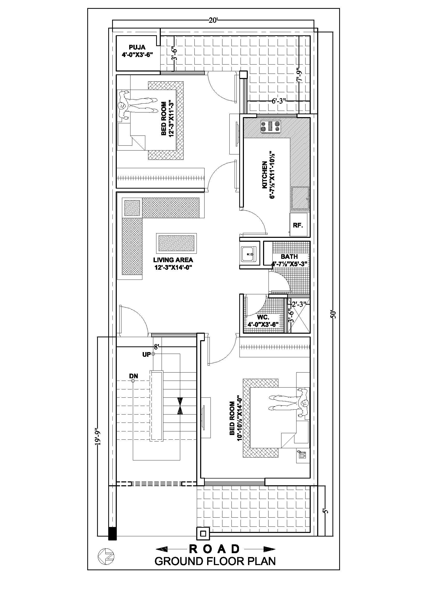 20 50 Ground Floor North Side Drawing