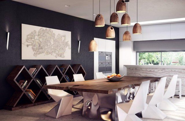 Table salle à manger moderne- 30 idées originales Salons, Dining - salle a manger design moderne