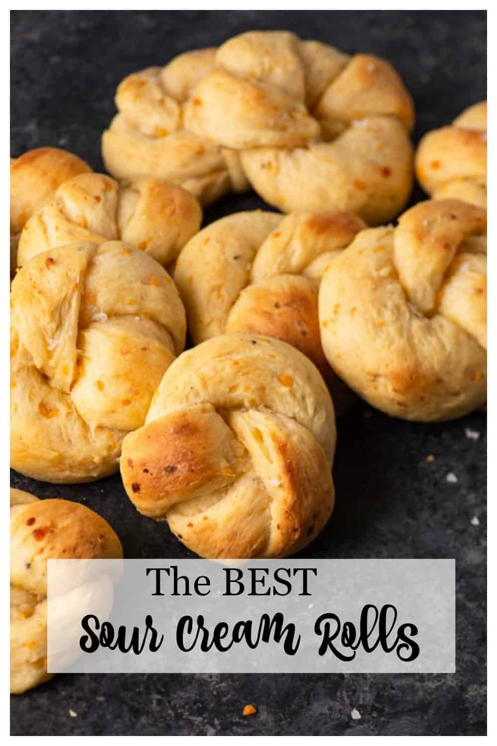 Sour Cream Yeast Knots Butter Baggage Recipe Recipes Yeast Rolls Recipe Dinner Rolls