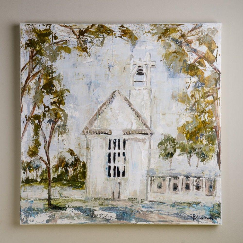 Sarah Robertson Seaside Beach Chapel canvas Painting