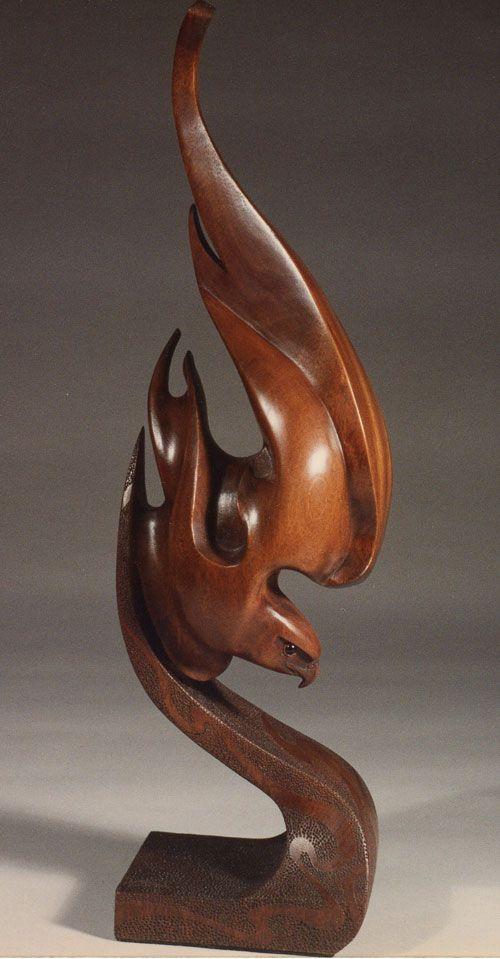 Future flights of the phoenix greg jones wood carvings