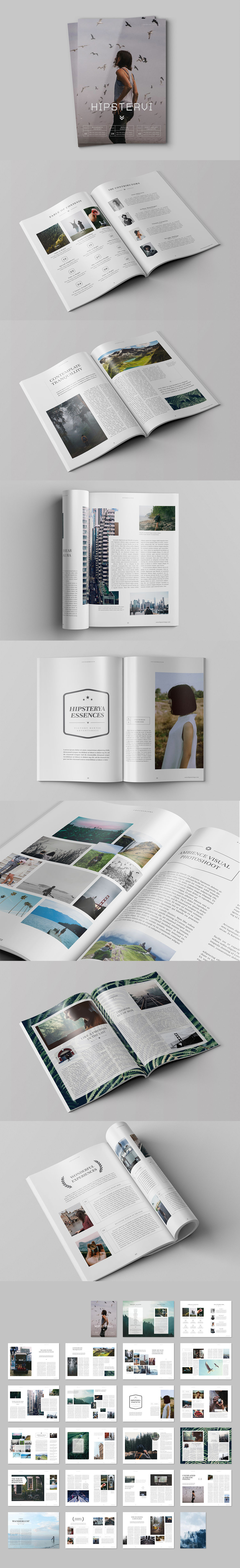 Hipster Journey Magazine Template InDesign INDD | Diseño | Pinterest ...
