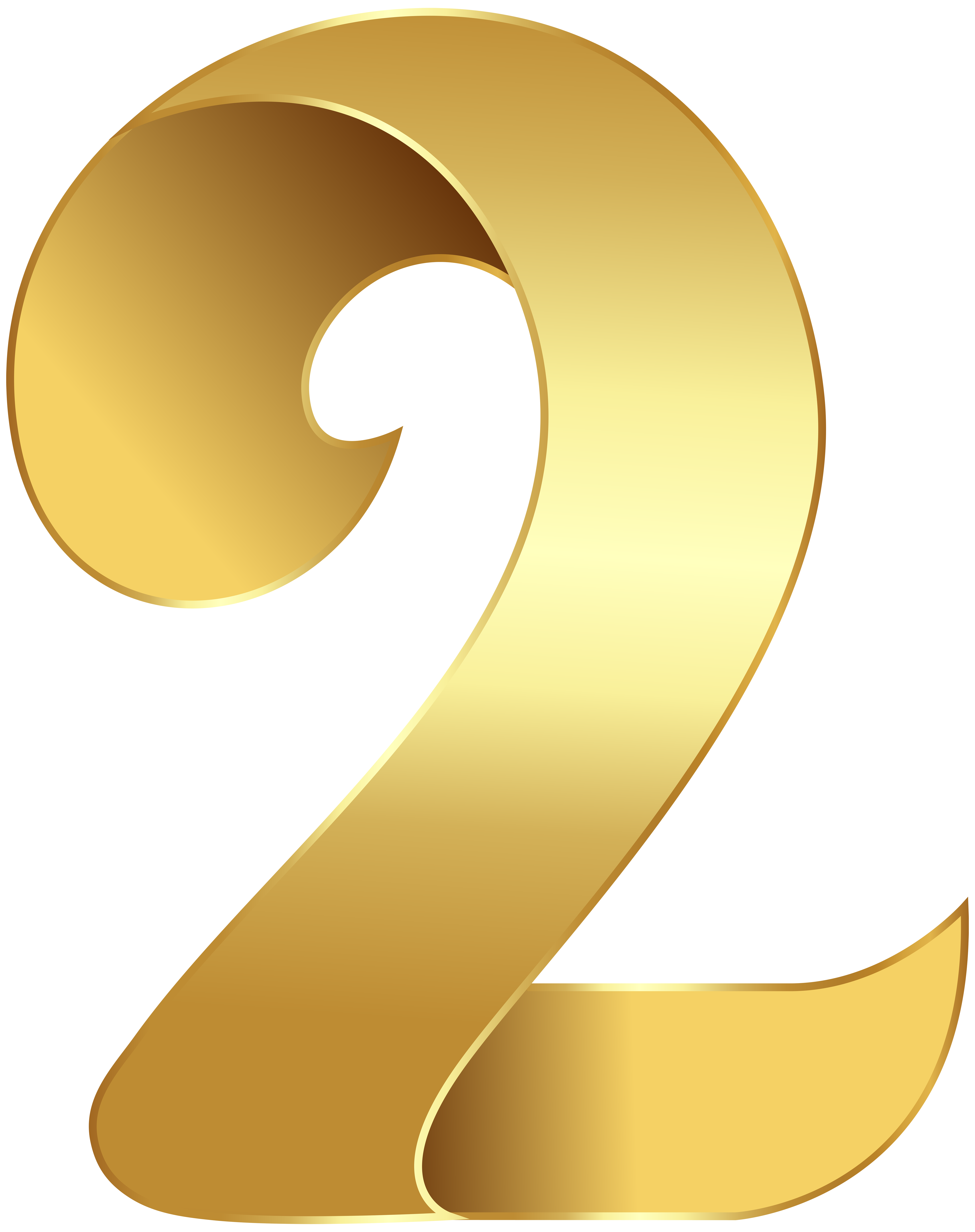Golden Number Two Transparent PNG Clip Art Image Gallery