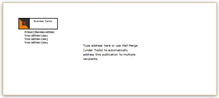 Envelope Template Design for MS Word DOWNLOAD at http\/\/www - business envelope template
