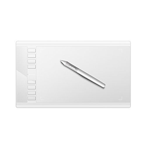 TS-6580 Turcom 8 x 5 Inches White Graphic Drawing Capture Pen and Touch Tablet