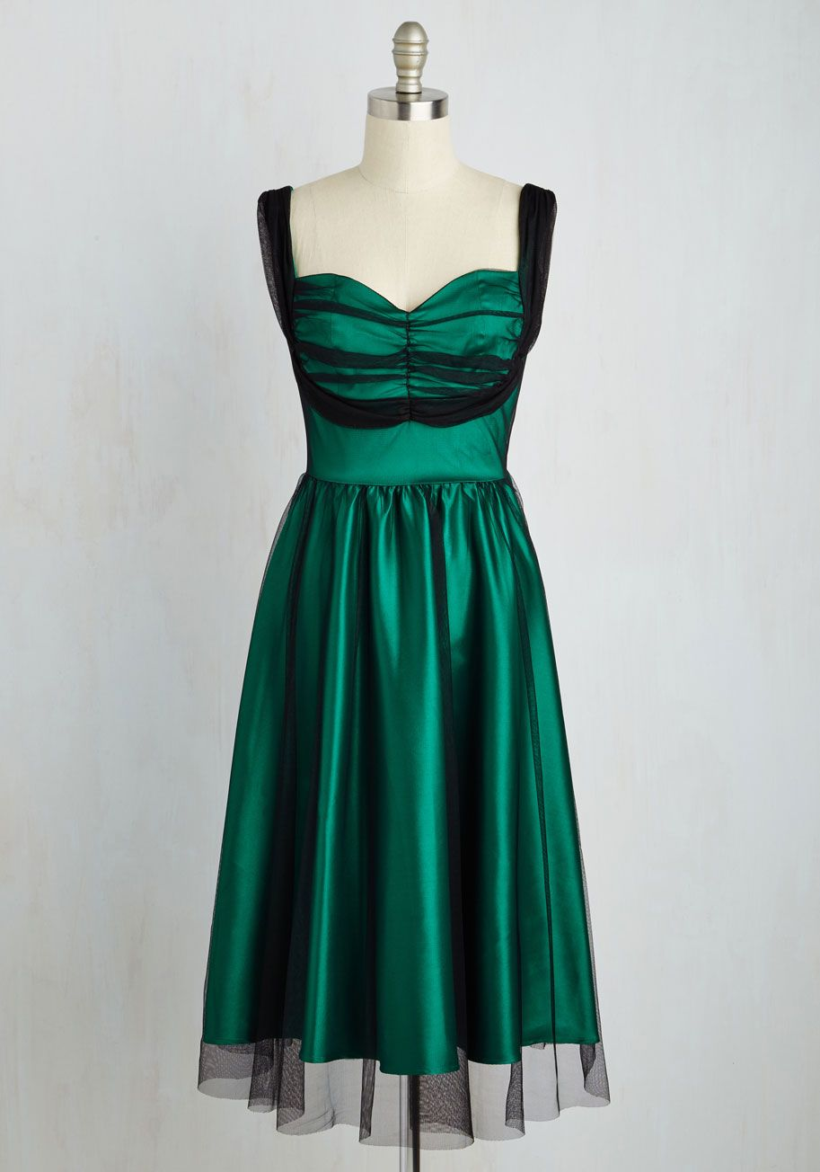 9fb669d9497 Courteous Curtsy Dress. Give your admirable etiquette an amazing look to  match by spinning into this emerald fit and flare from Stop Staring!