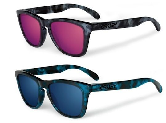 oakley frogskins acid tortoise blue sunglasses  17 best images about frogskins // oakley on pinterest