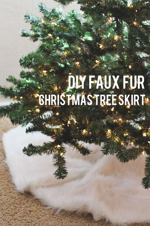 Brittanys Notebook DIY Faux Fur Christmas Tree Skirt