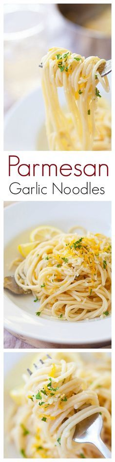 Quick and easy Parmesan Garlic Noodles with garlic and Parmesan cheese. This Parmesan Garlic Noodles recipe takes 20 mins and great for the entire family   rasamalaysia.com