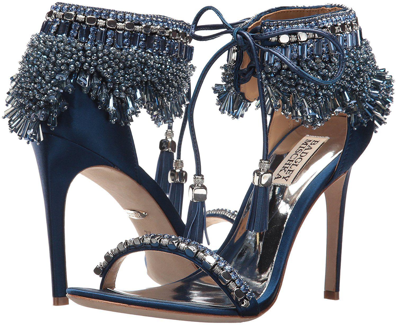 7fde3ba932cb3 Amazon.com: Badgley Mischka Women's Katrina Heeled Sandal, Navy, 7.5 ...