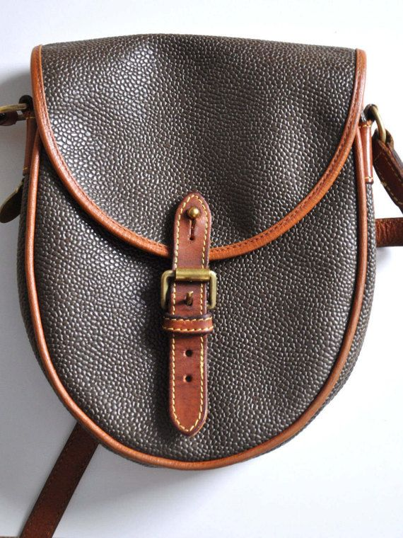 1a8c14c3fbd Vintage MULBERRY scotchgrain bag, small crossbody bag, brown and ...
