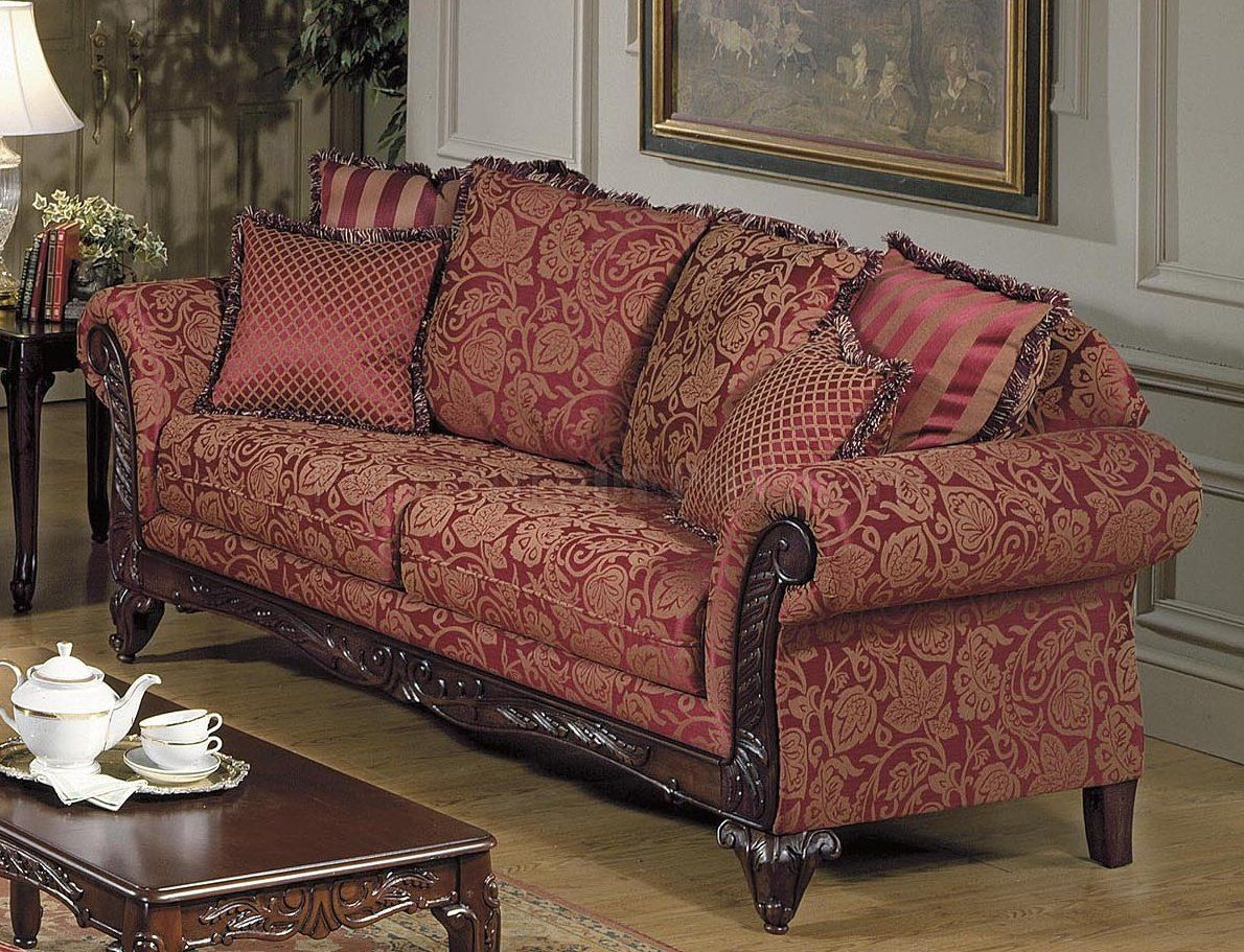 Tapestry Sofa Living Room Furniture Hd Wallpapers Free In 2020 Victorian Style Sofas Traditional Sofa Leather Living Room Furniture