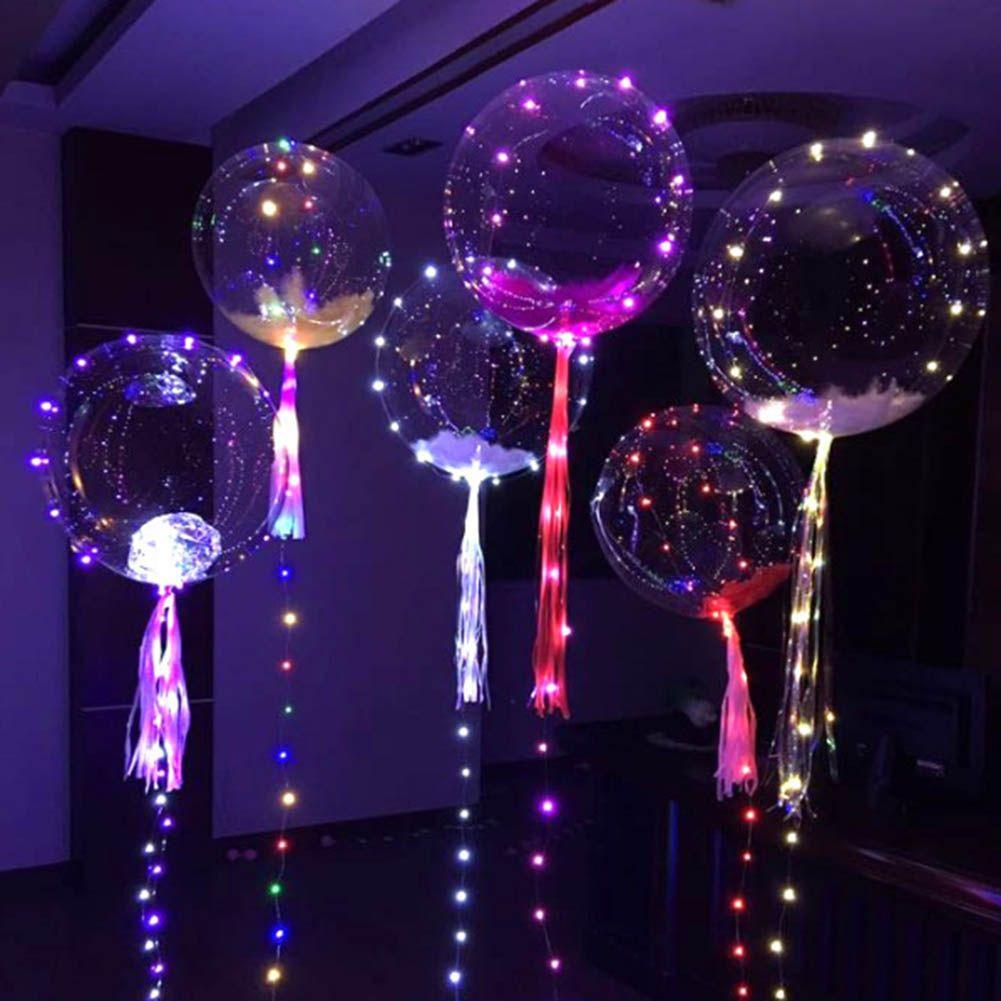Luminous Led Balloon Colorful Transparent Round Bubble