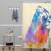 Found it at AllModern - Robert Farkas Woven Polyester Sunny Leo Shower Curtain