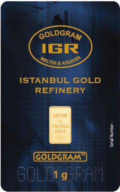 NEW ISSUE! 1 Gram 999.9 24K Istanbul Gold Refinery IGR Bar