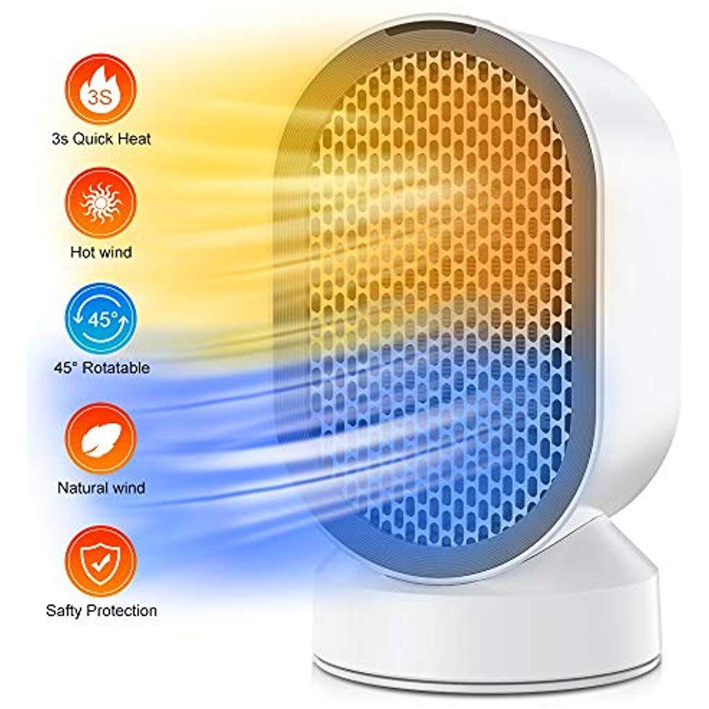 Elektrisch Heizlufter Keramik Ventilator Leise Energiesparend Heizgerat Mit 2s Schnellheizung Oszillationsfunktion 2 Lei Heizgerate Energie Sparen Elektrisch