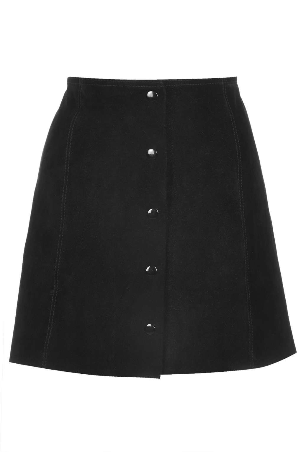 Suede Button Front A-Line Skirt | Topshop, Leather and Online