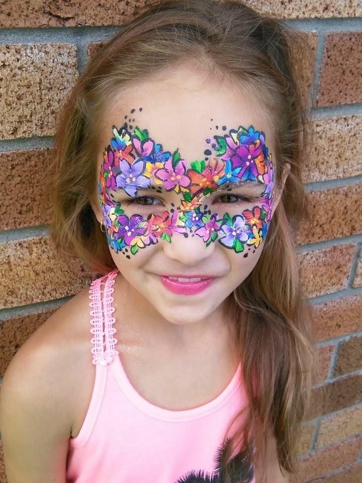 Flower fairy face paint by Fairy Mellie.