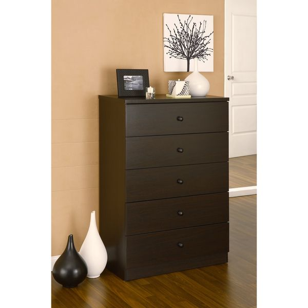 5 Drawer Dresser //www.overstock.com/Home-Garden/Modern-5 ... on master bedroom with dark furniture, dark cherry wood furniture, espresso color furniture, bedroom design ideas, refurbished wood furniture, bedroom dressers with mirrors, dark wood floor living room furniture, solid cherry wood furniture, bedroom dresser top decor, espresso dressers furniture, dark chocolate furniture, brown leather living room furniture,