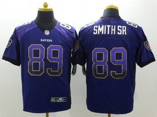 nike baltimore ravens 89 steve smith sr drift fashion purple elite jersey