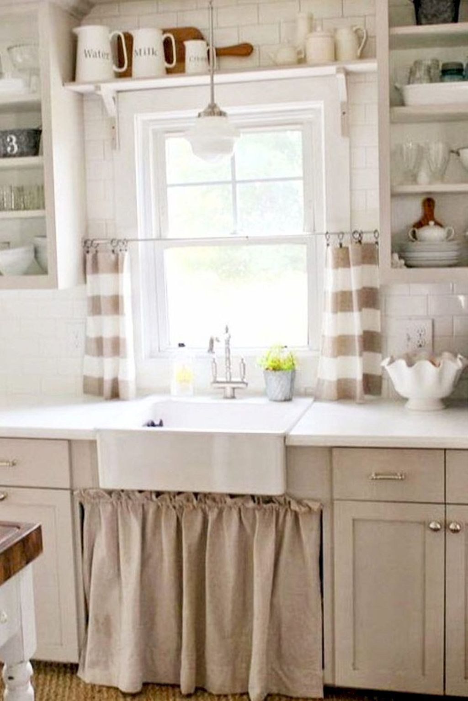 70 pretty farmhouse kitchen curtains decor ideas 11 affordable farmhouse kitchen kitchen on farmhouse kitchen valance ideas id=69135