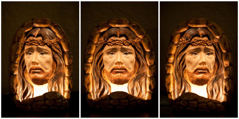 Jesus Crown Of Thorns Nightlight Hologram Painted Jesuswatchesoveryou