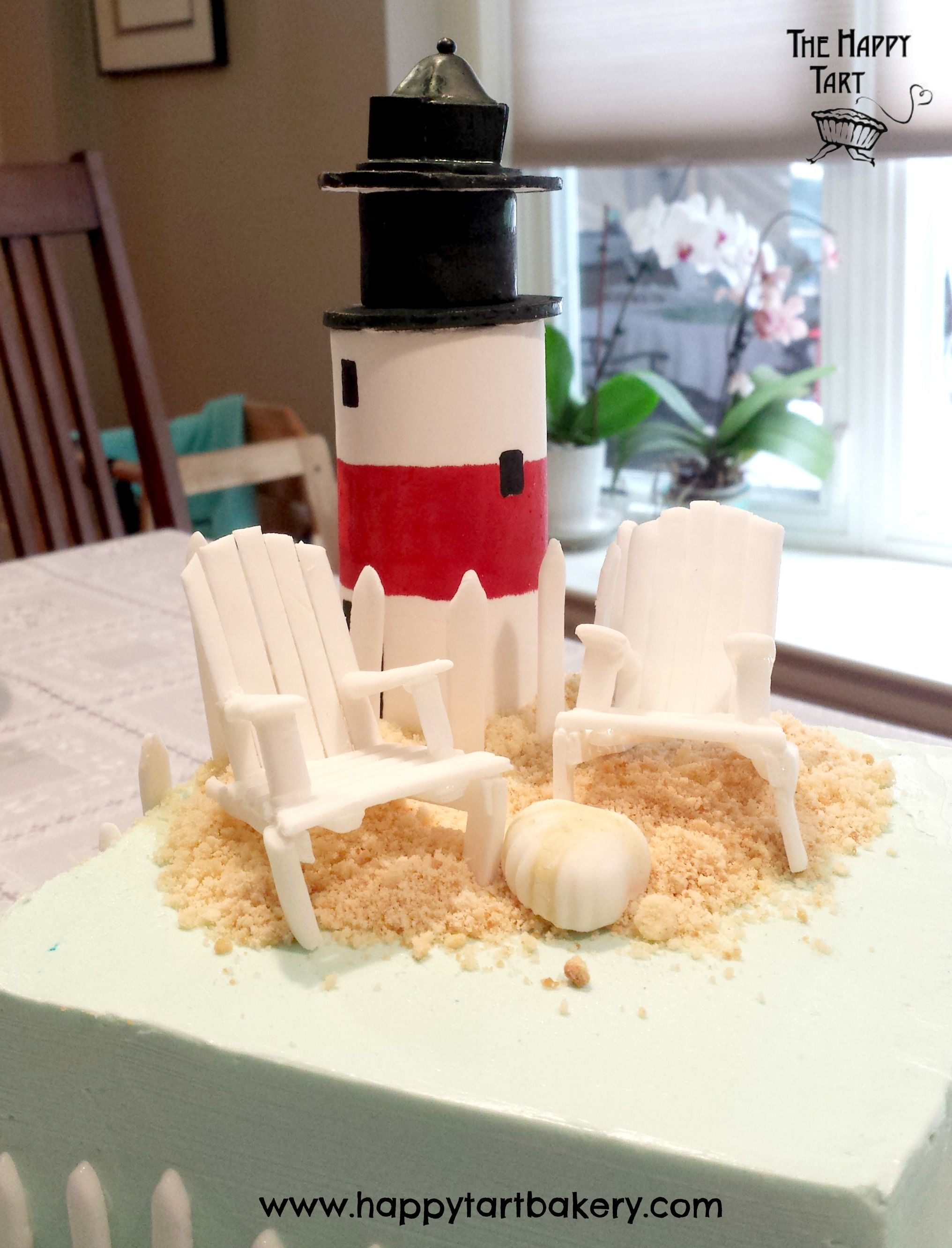 Gluten Free Sugar Lighthouse Topper WeddingLighthouse CakeGluten